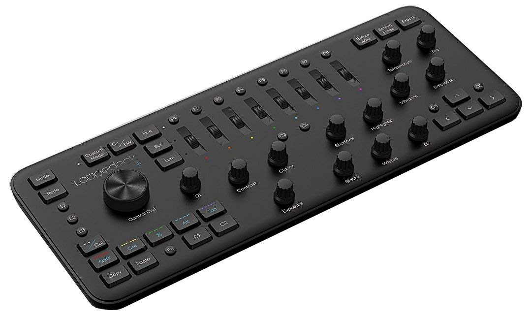 loupedeck plus photo and video editing console and keyboard for adobe lightroom premiere pro. Black Bedroom Furniture Sets. Home Design Ideas