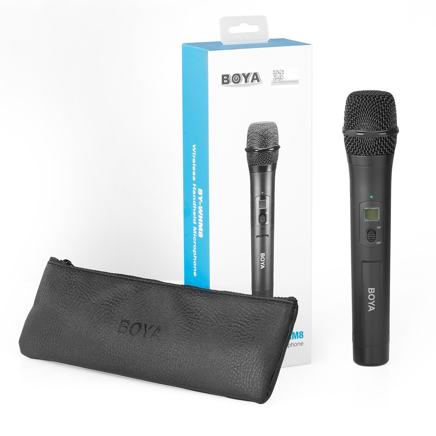 BOYA Microphone by-WHM8 Pro 48-Channel UHF Camera Wireless Handheld Microphone Dynamic Mic for Karaoke Interview Meeting Audio Recording Stage Singing Compatiable with BOYA by-WM8 //by-WM6 Receiver
