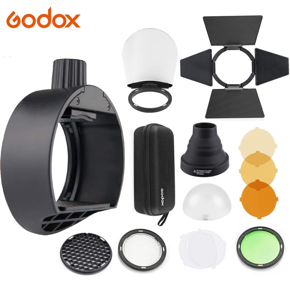 Godox AK-R1 Round Head Accessories Kit /& Godox S-R1 Flash Head Adapter Compatible for Godox V860II TT685 TT600 and Canon Nikon Sony Camera Flash Speedlight